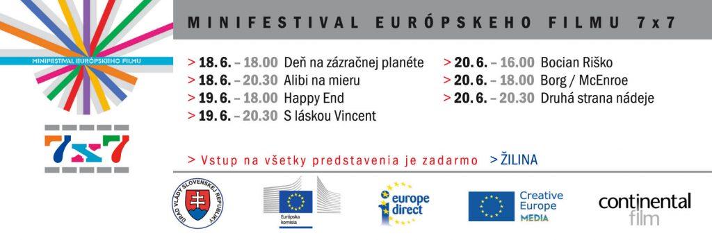 Minifestival európskeho filmu 2018 Žilina
